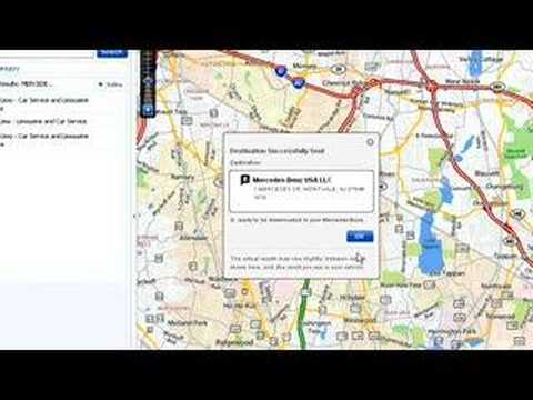 Mercedes-Benz Search & Send Yahoo! Maps Instructional Video