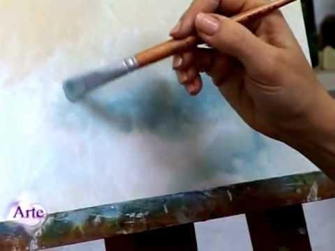 C mo pintar cielos al leo parte ii versi n m s amplia - Ninos pintando con las manos ...