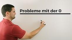 Probleme mit dem Teilen durch 0, Schaubild mit Annähern | Mathe by Daniel Jung