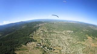 L'Ardèche vu du ciel en immersion à 360° , vol en parapente...