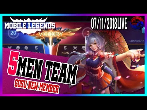 Full Gosu 5men Rank Mobile Legends North America Marksman Player