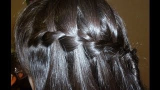 Плетение французский водопад/waterfall braid