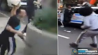Videos show NYPD officers attacked during George Floyd protests