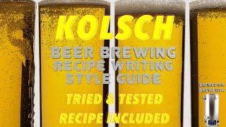 Kölsch Beer Brewing, Recipe Writing & Style Guide 4K HD