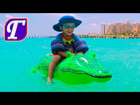 Max and inflatable crocodile at the Caribbean Beach Games Italian Restaurant Videos Gay travel vlogs - Duration: 10:18.