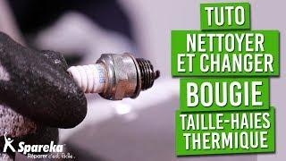 TUTO - Comment changer ou nettoyer la bougie de votre taille haies thermique