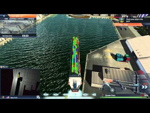 TransOcean TSC - Feeder Ship Manouvering Gameplay HD