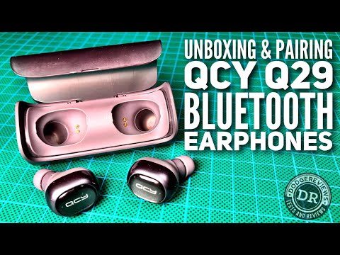 QCY Q29 Wireless Bluetooth 4.1 Dual Earphones unboxing & pairing demo