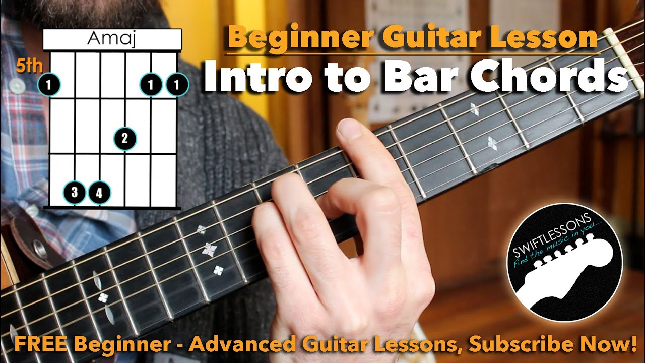 Learn to Play Guitar Bar Chords | Free Guitar Chord Chart
