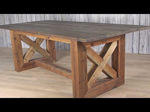 Ultimate DIY Rustic Farmhouse Table / Weathered And Aged Finish