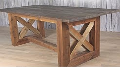 DIY Rustic Farmhouse Table / Weathered and Aged Finish