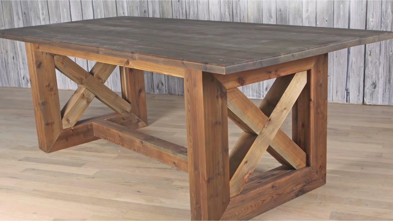 Ultimate Diy Rustic Farmhouse Table Weathered And Aged Finish Youtube
