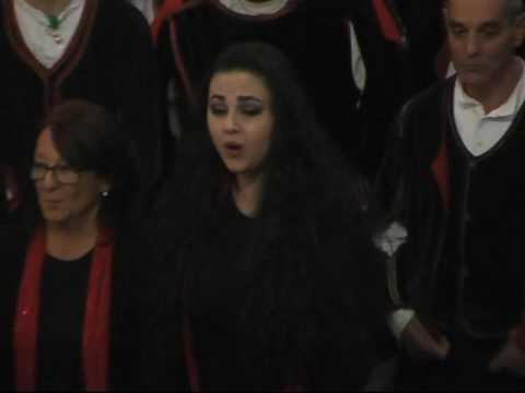 Luna di M Turnu cantata dai 3 cori Concerto di Natale Aritzo 30 12 2016