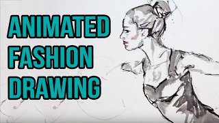 a fashion drawing dance Film by Ralf Heldenbeutel - Disco
