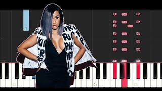 Cardi B - Be Careful (Piano Tutorial Instrumental)