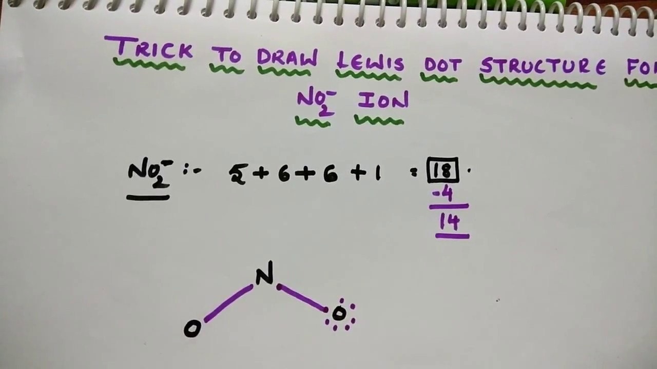 trick to draw lewis dot structure for no2 ion youtube