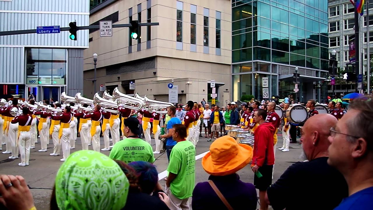 Cadets Horn Line Pittsburgh Parade June 16, 2013