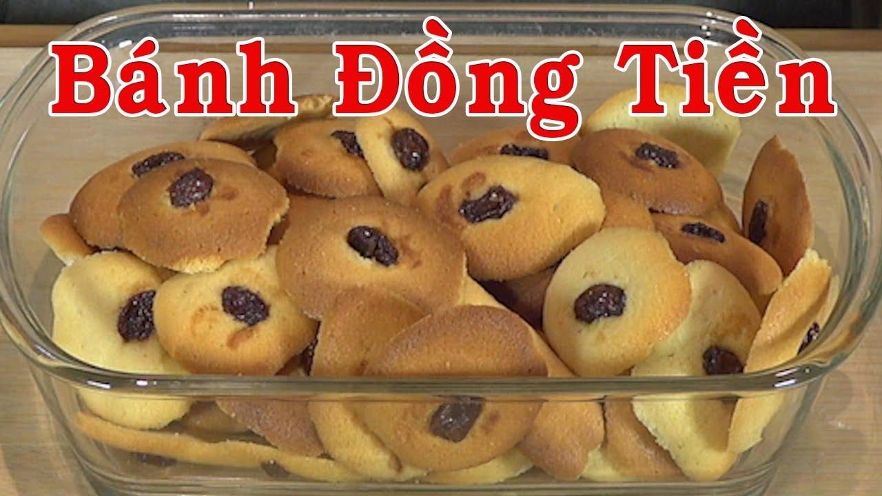 Bánh đồng tiền – Cách làm bánh đồng tiền nhân nho thơm ngon – Bánh lưỡi mèo – Nguyễn Hải
