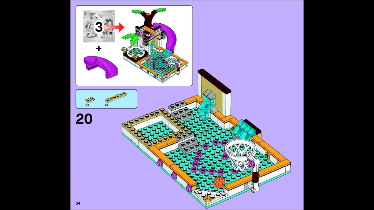 Pics for lego friends beach house instructions for Olivia s garden pool instructions