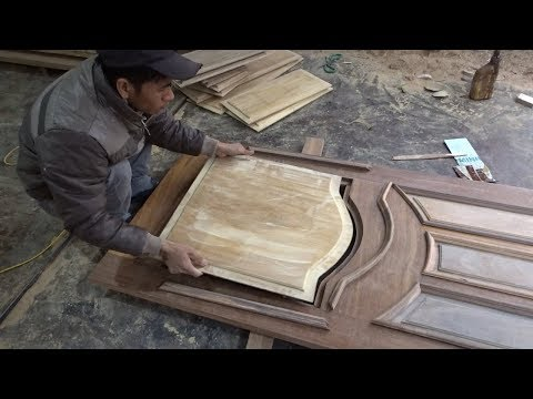 Amazing Techniques Woodworking // How To Build And Assemble A Beautiful Front Door