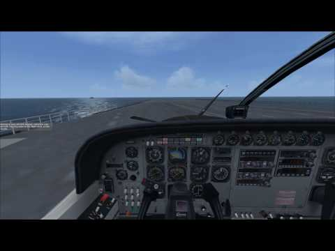 FSX Mission Catalina Day Spa (Aircraft Carrier Landing, A Near Miss ) カタリナ島デイスパ