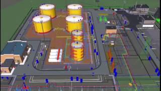 BIM модель пилотного проекта  - 2016 г. ''''Склад дизельного топлива''.