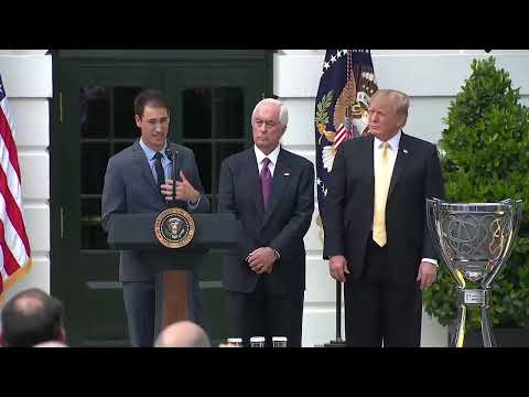 President Trump welcomes Joey Logano to White House