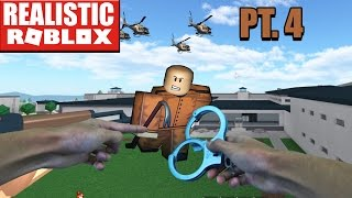 REALISTIC ROBLOX - ESCAPING ROBLOX PRISON IN REAL LIFE pt 4 - COP HELPS RG ESCAPE! Prison Life Cop!