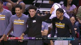 Quarter 4 One Box Video :Lakers Vs. Trail Blazers, 7/16/2017