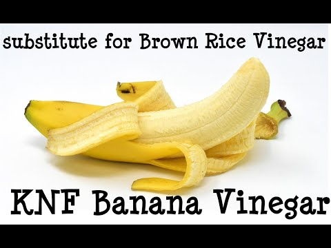 How to make KNF Banana Vinegar as a substitute for KNF Brown Rice Vinegar + KNF FFJ Banana ■ VLOG #6