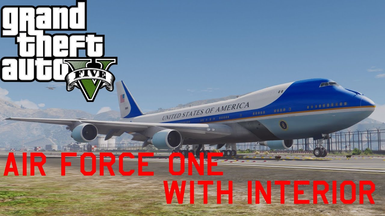 Gta V Air Force One Mod With President Interior