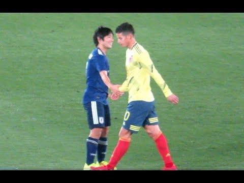 コロンビア代表を翻弄する中島翔哉選手のプレー サッカー日本代表xコロンビア代表