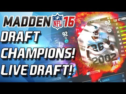 ROD WOODSON! DRAFT CHAMPIONS! LIVE DRAFT! - Madden 16