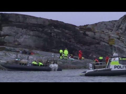 13 döda i norsk helikopterkrasch - Nyheterna (TV4)