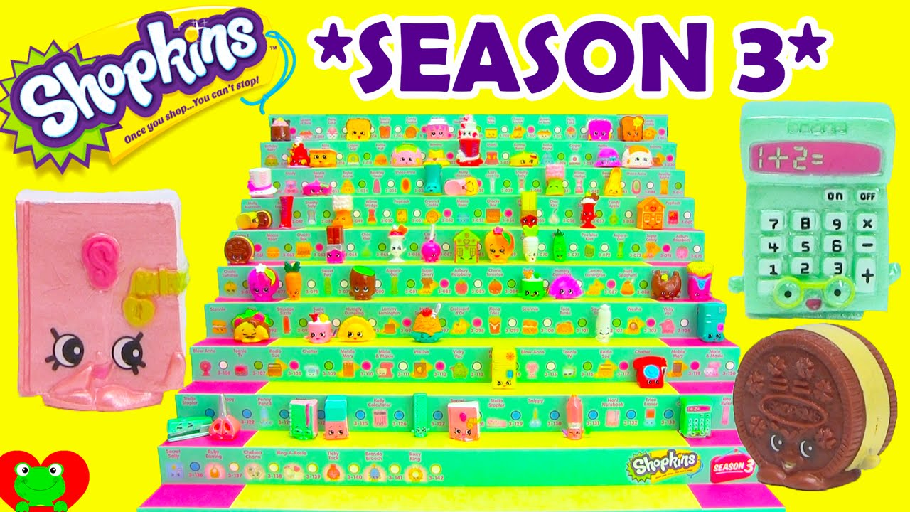 Shopkins Season 3 Opening Of 6 12 Packs On Shopkins Case