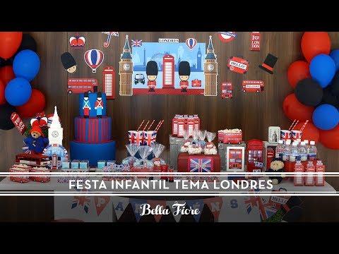 Decoração para Festa Infantil Tema Londres