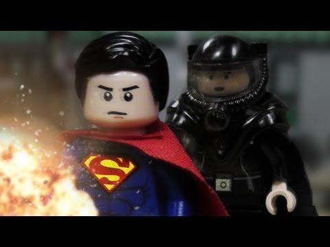 Lego Man Of Steel Superman vs. Faora (Official Clip)