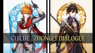 Zhongli and Childe talks about each other