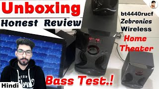 zebronics bt4440rucf 4 1 channel bluethooth speaker Unboxing Review Sound test Best Home theater