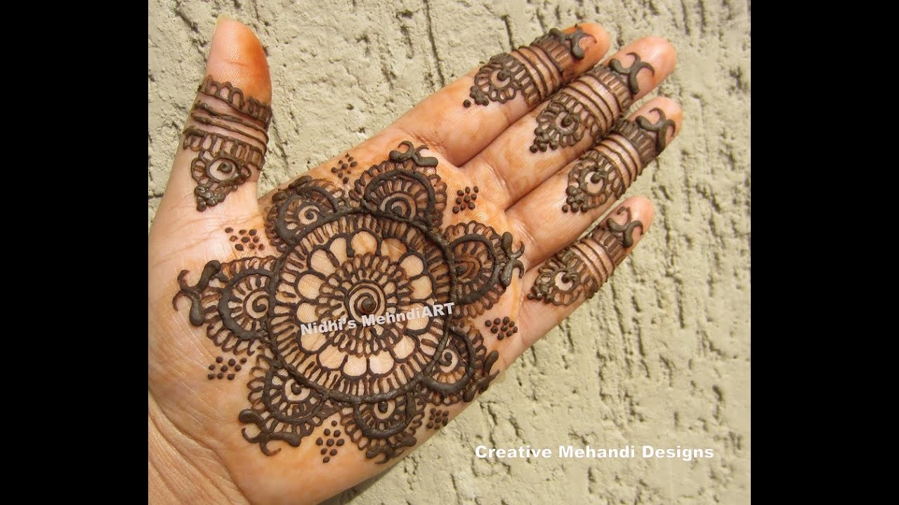 Easy Round Gol Tikki Henna Mehndi Design Tutorial For