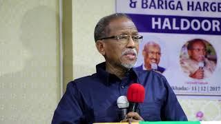 Prof Cali Khaliif Oo Munaasibad Uu Ka Qayb Galay Ku Tilmaamay Munaasibadii U Horaysay Ee......