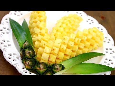 Art In Pineapple Garnish | Fruit Carving | Pineapple Food Art | Party Garnishing