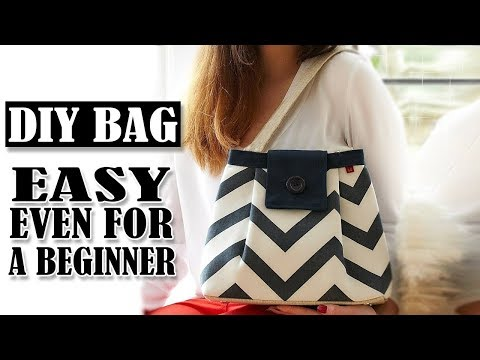 DIY TRENDY HAND BAG CUT & SEW Dream Easy Way To Sew Cute Bag Fast