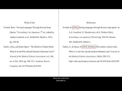 MLA vs APA: Works Cited and References