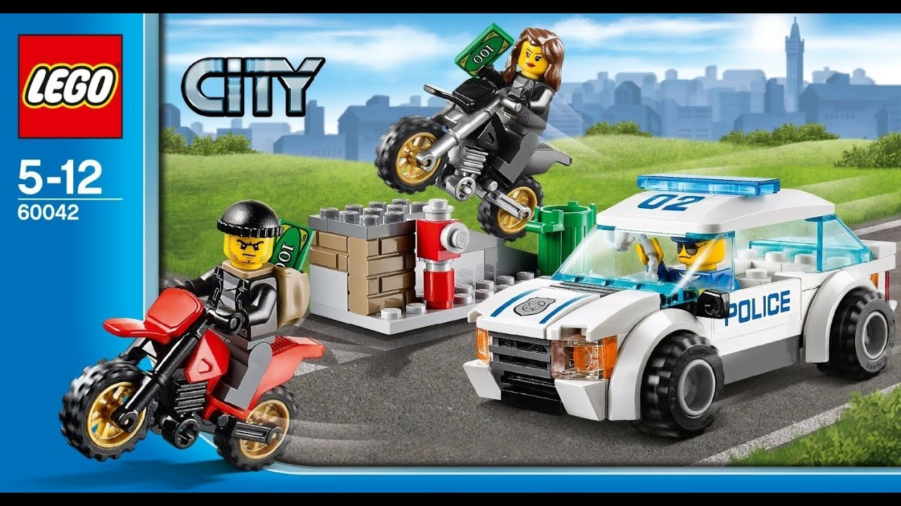 Lego 60042 High Speed Police Chase City Police Instruction Booklet