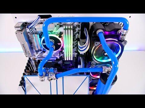 Core P3 - Project Blue Snow PC Build Time Lapse