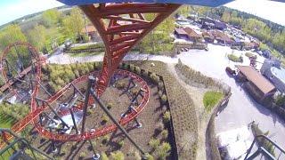 DrageKongen Roller Coaster Front Seat POV Djurs Sommerland Denmark 2017