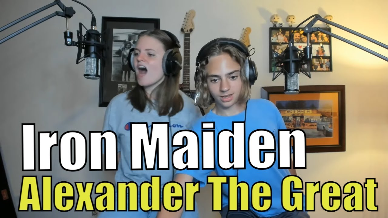 Teens Reaction - Iron Maiden   Alexander The Great