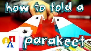 How To Fold An Origami Bird (Parakeet)