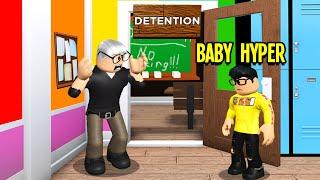 Baby Hyper's Teacher Gave Him Detention.. (Roblox Bloxburg)